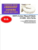 Streamline Crescent Covers 6pk